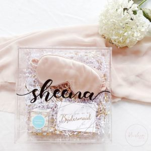 Personalized Bridesmaid Wedding Gift Box