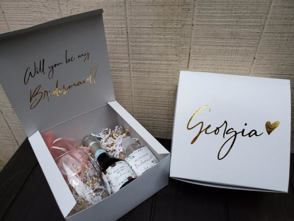 Personalized Bridesmaid and Maid of Honor Proposal Gift Box - Style #894015468