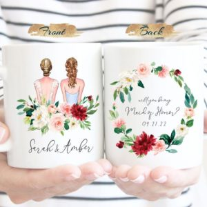 Personalized Maid of Honor Bridesmaid Proposal Mug