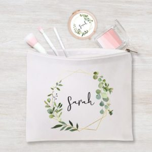 Personalized Will You Be My Bridesmaid Maid of Honor Proposal Gift Makeup Bag