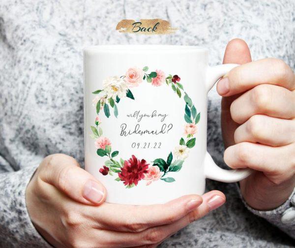 Personalized Maid of Honor Bridesmaid Proposal Mug