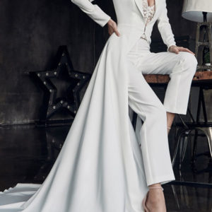 Style #7997757 - White Two Piece Wedding Jumpsuit