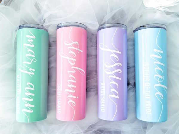 Stainless Steel Personalized Tumbler with Straw