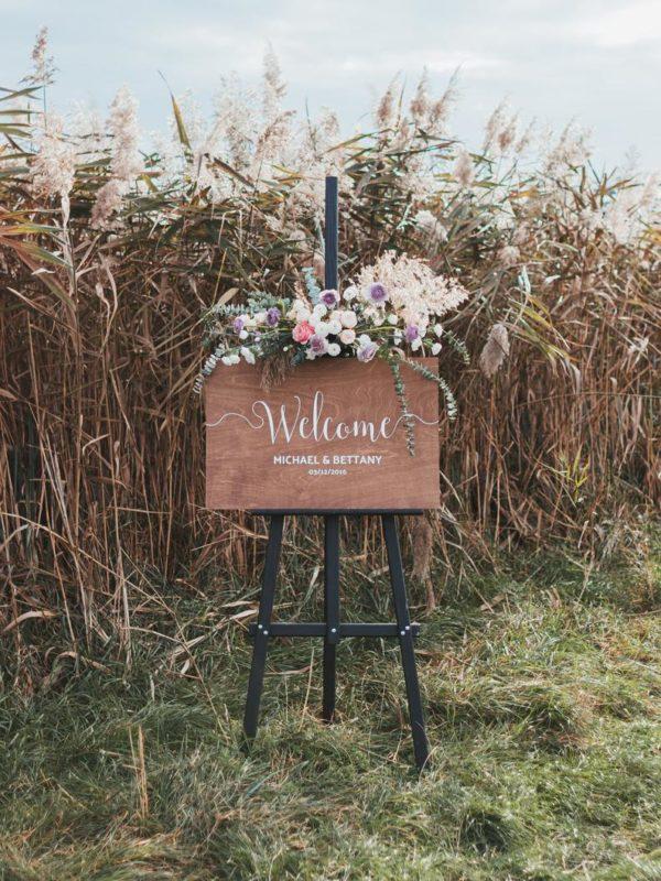 RusticBoho Decor Wedding Welcome Sign