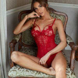Sheer Honeymoon Mesh Bridal Floral Lace Teddy Bodysuit